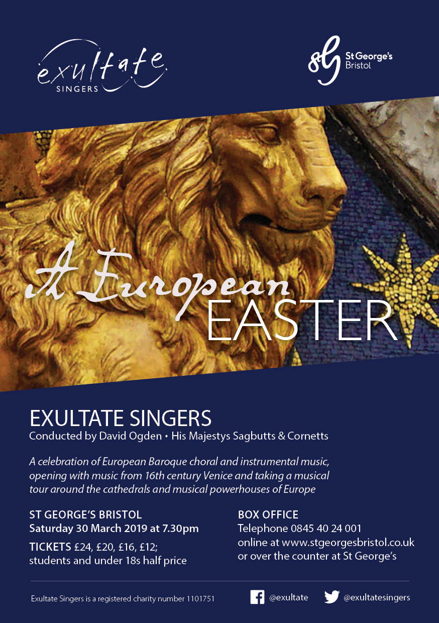 Exultate Singers | A European Easter - 30 March 2019